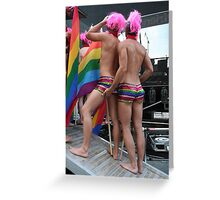 2 Gay males Greeting Card