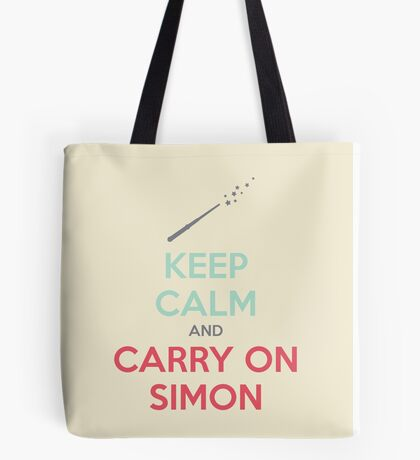 Keep Calm and Carry On Simon (Multi-Color Text) Tote Bag