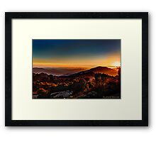 Sunset Near Cambria, California Framed Print