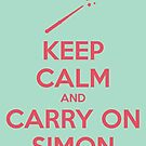 Keep Calm and Carry On Simon (Pink Text) by 4everYA