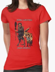 Merry Christmas... From Krampus Womens Fitted T-Shirt