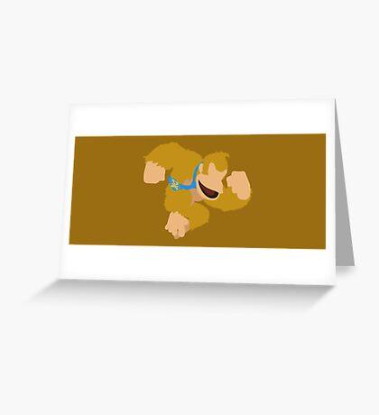 Donkey Kong (Orange) - Super Smash Bros. Greeting Card