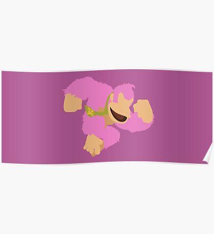 Donkey Kong (Pink) - Super Smash Bros. Poster