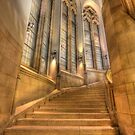 Grand Staircase - Suzzallo Library by Barb White