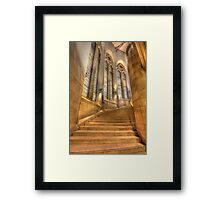 Grand Staircase - Suzzallo Library Framed Print