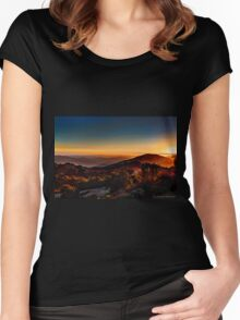 Sunset Near Cambria, California Women's Fitted Scoop T-Shirt