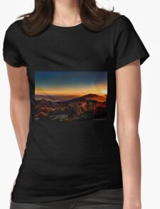 Sunset Near Cambria, California Womens Fitted T-Shirt