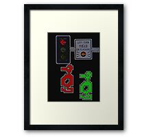 Adventure dragons hate turn signals. Framed Print