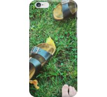 Birkenstocks on the Grass Kinda Afternoon iPhone Case/Skin