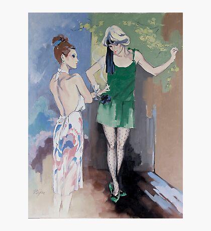 """Gossip"" Oil on Canvas Photographic Print"