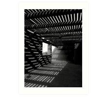 Light & Shadows ~ Black & White Art Print