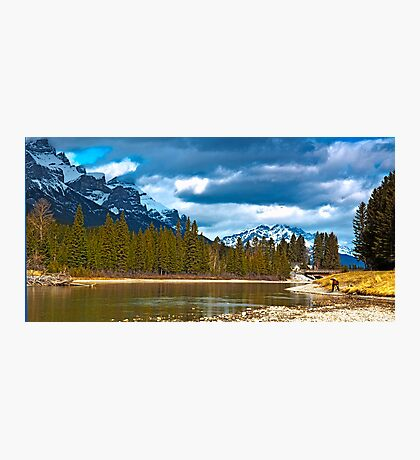 Bow River at Canmore Alberta Photographic Print