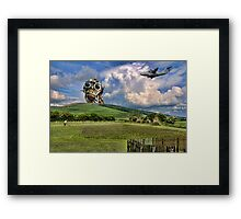 Whats that coming over the Hill...... Framed Print