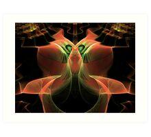 Up in Smoke Escher  (UF0217) Art Print