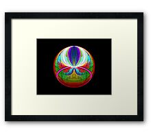 Elliptic Splits FSK Escher Sphere  (UF0221) Framed Print