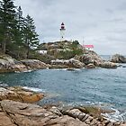 Point Atkinson Lighthouse and Rocky Shore by Jeff Goulden