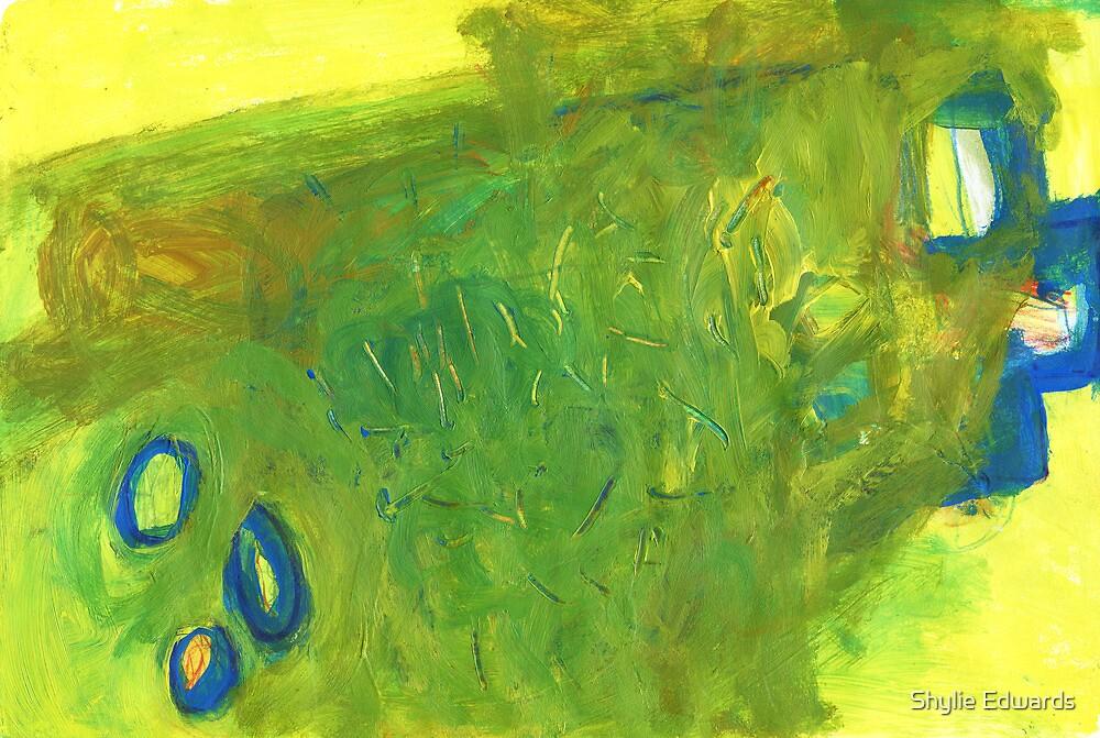 window in landscape by Shylie Edwards