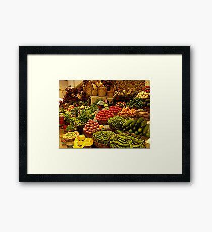 vegetable lady Framed Print