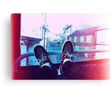 My feet on a bus Canvas Print