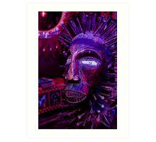 Voodoo Purple Blue Voodoo Art Print