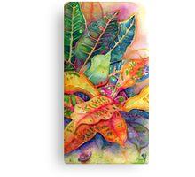"""Croton Series 1"" Silk Painting Canvas Print"