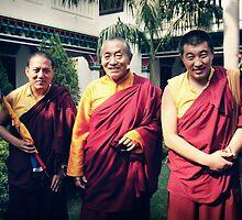 Khenpo Sonam,  Venerable Khenchen Palden Sherab Rinpoche and Khenpo Tashi Gyatso by dcphotos