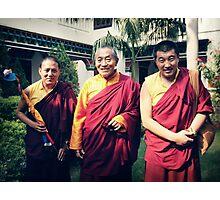 Khenpo Sonam,  Venerable Khenchen Palden Sherab Rinpoche and Khenpo Tashi Gyatso Photographic Print
