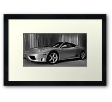 A Contrast of Shapes Framed Print