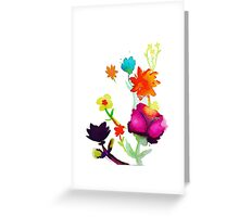 Cheery Bright Watercolor Floral Painting Greeting Card