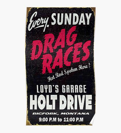 Drag races Poster