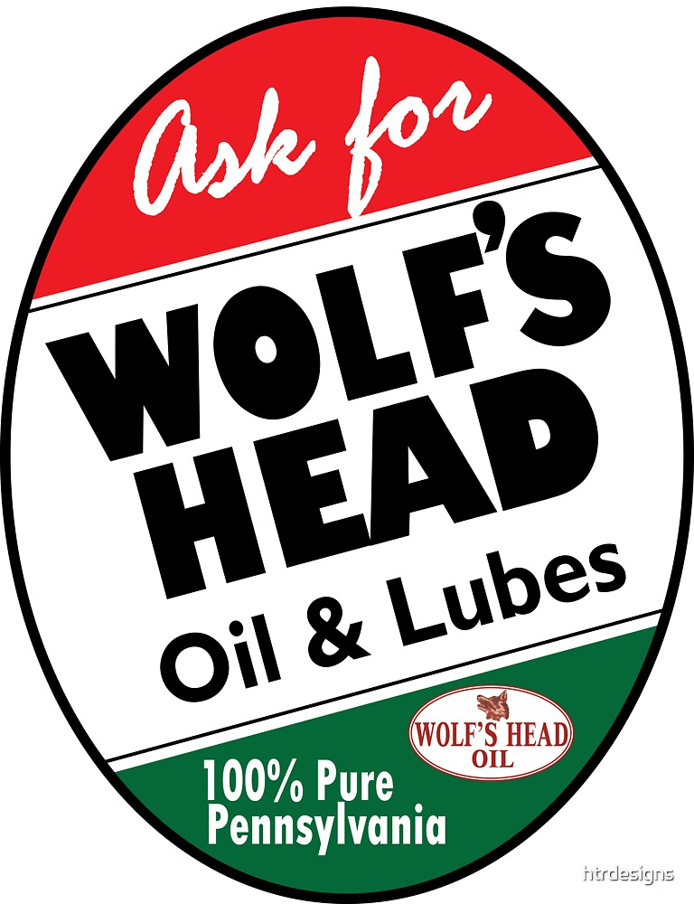 Wolf's Head Oil vintage sign by htrdesigns