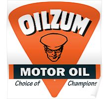 Oilzum Motor Oil vintage sign Poster