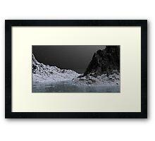 Ice Ravine by Moonlight Framed Print
