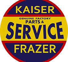 Kaiser Frazer Approved Service vintage sign by htrdesigns