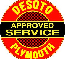 Desoto Plymouth Approved Service vintage sign by htrdesigns