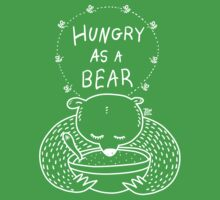 Hungry As A Bear (white print) Baby Tee