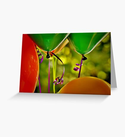 Party Balloons Greeting Card