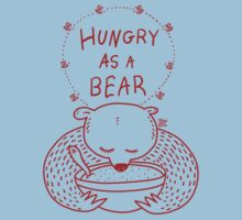 Hungry As A Bear (red print) Kids Tee