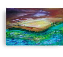 Landfall at Sunset Canvas Print