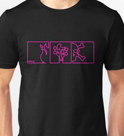 Metal Flake Magenta Unisex T-Shirt