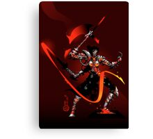 The Black Queen's Knight Canvas Print