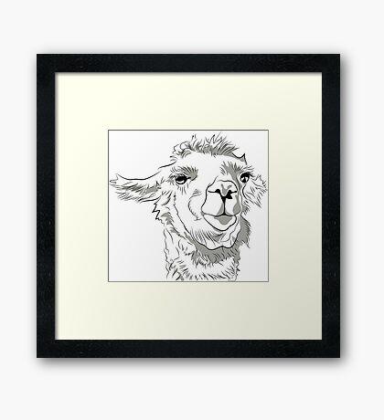 The Great and Terrible Llama Framed Print