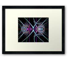"""The Meeting of Cosmic Sovereigns"" Framed Print"