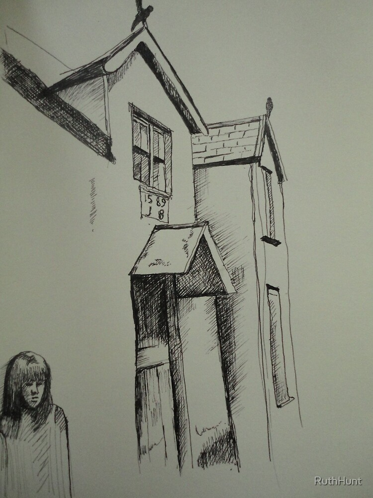 Pen sketch Conwy. by RuthHunt
