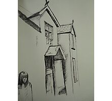 Pen sketch Conwy. Photographic Print