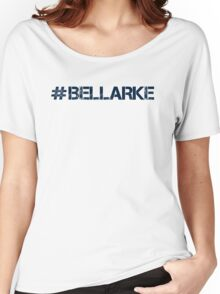 #BELLARKE (Navy Text) Women's Relaxed Fit T-Shirt