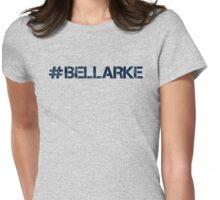 #BELLARKE (Navy Text) Womens Fitted T-Shirt
