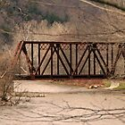Railroad Bridge Over Swollen Oil Creek by Geno Rugh