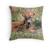 potty cow Throw Pillow