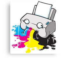 Puker Printer Canvas Print